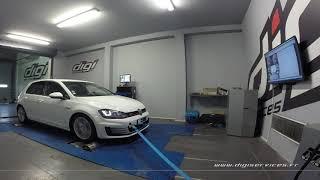 VW Golf 7 GTI 220cv DSG Reprogrammation Moteur @ 310cv Digiservices Paris 77 Dyno