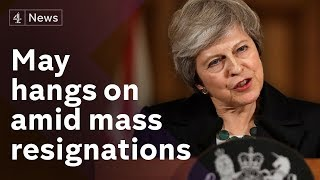Mass cabinet resignations over May's Brexit deal