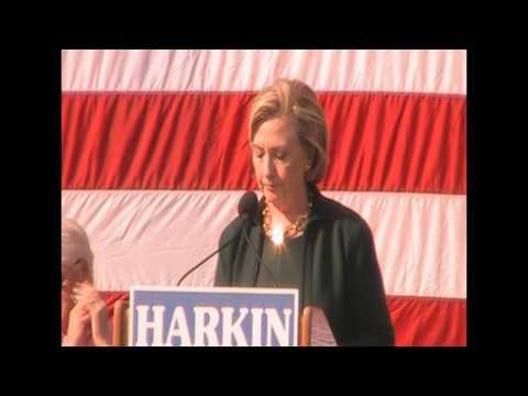 Hillary Clinton at Tom Harkin
