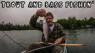Trout and Bass Fishing in the Morning