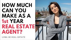 how much can you make as a 1st Year Real Estate Agent 2019