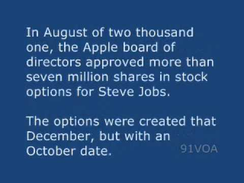 Apple backdated stock options