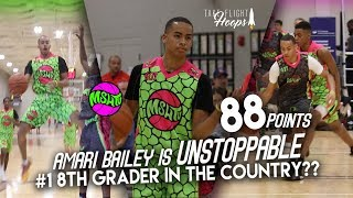 Amari Bailey EXPLODES for 88 POINTS & DOMINATES the 2017 MSHTV CAMP!! #1 8TH GRADER IN THE COUNTRY??