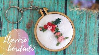 Bordado con Puntadas Básicas de Letra con Flores