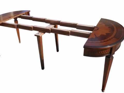 Tavolo tavoli ovali classici allungabili con piano intarsiato - YouTube
