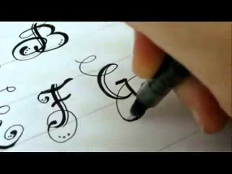 كتابة حروف انجليزيه بخط جميل Youtube