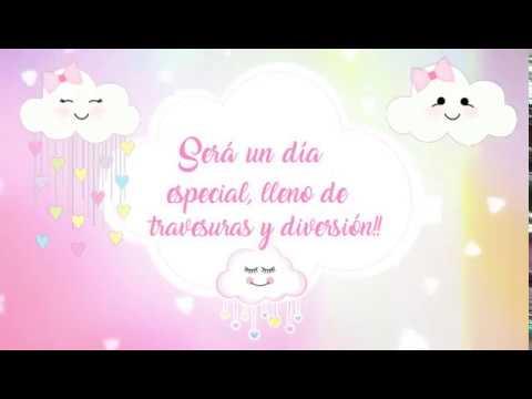 Video Invitacion Para Cumpleaños Lluvia De Amor Tarjeta De