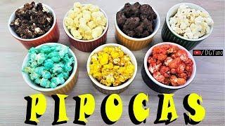 PIPOCAS - Melhores Receitas | Pipoca Doce, GOURMET, Sem Óleo, Ninho, Chocolate | POPCORN