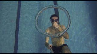 Bubble rings Воздушные кольца под водой