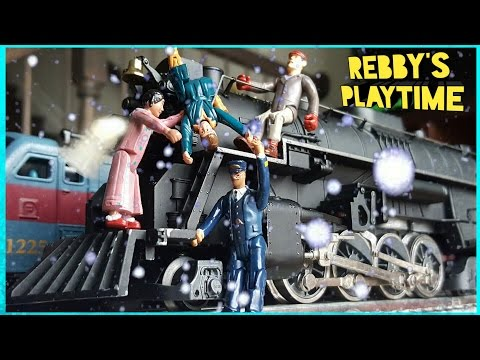 Toy Train Video for Kids. Polar Express Toy Train. Real Smoke Toy Train. Rebby's PlayTime.