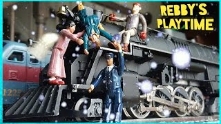 Toy Train Video for Kids. Polar Express Toy Train. Real Smoke Toy Train. Rebby