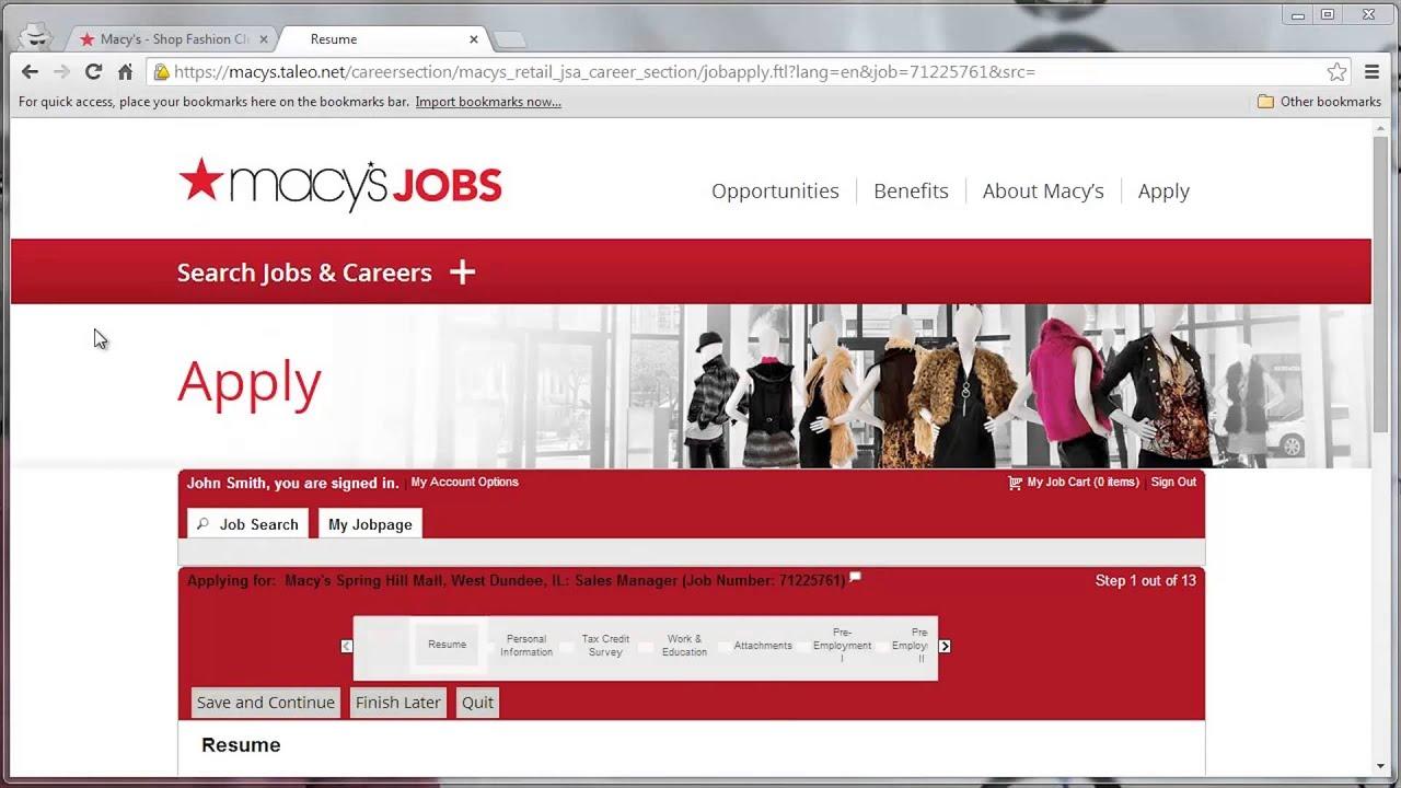 Macy's Application Online Video - YouTube