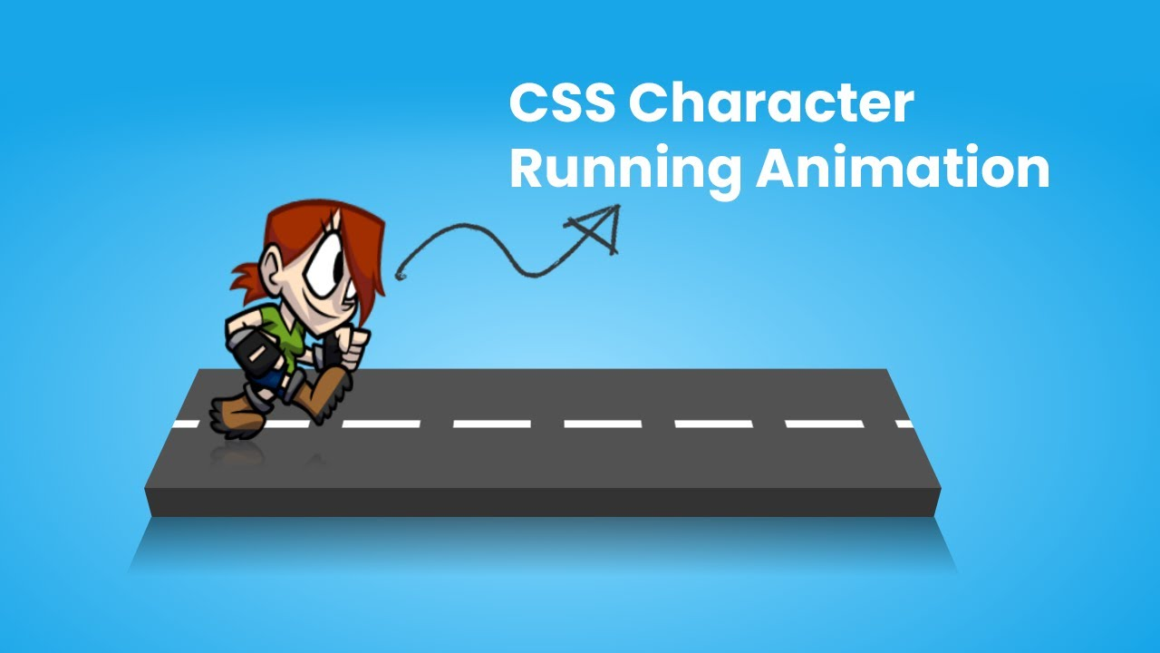 CSS Character Running animation Effects   CSS3 Animation Tutorial