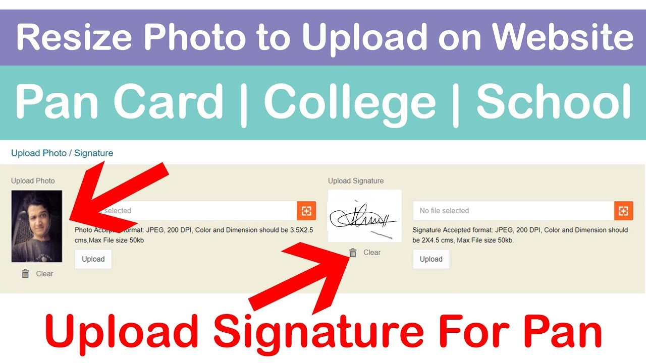 How to Resize Photo to upload for Pan Card Online   Photo Resize for  School/College/Gov Website