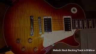 Melodic Rock Guitar Backing Track in B Minor
