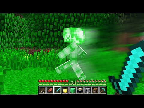 CHASED BY GREEN STEVE IN MINECRAFT POCKET EDITION! *NOT CLICKBAIT*