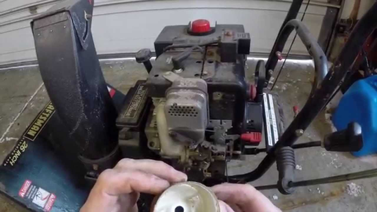 Craftsman Snowblower 9hp Carburetor Cleaning