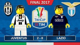 Finale TIM Cup 2017 • Juventus vs Lazio • Italy TIMCup Final • Lego Football Highlights Coppa Italia
