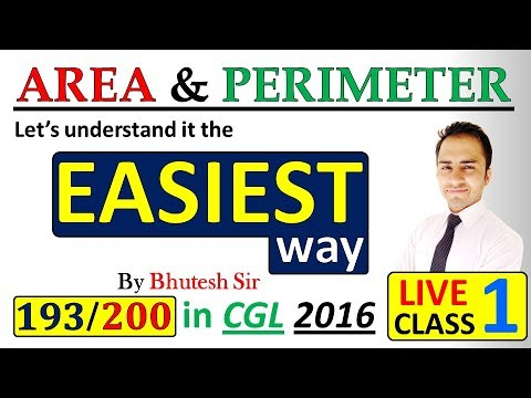 Mensuration 2D |Area and perimeter| (Part 1) for SSC CGL Tier 1 and tier 2 and  Bank PO