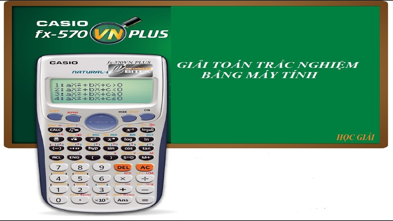 Trắc nghiệm toán – Giải nhanh Phương trình mũ và Logarit bằng CASIO