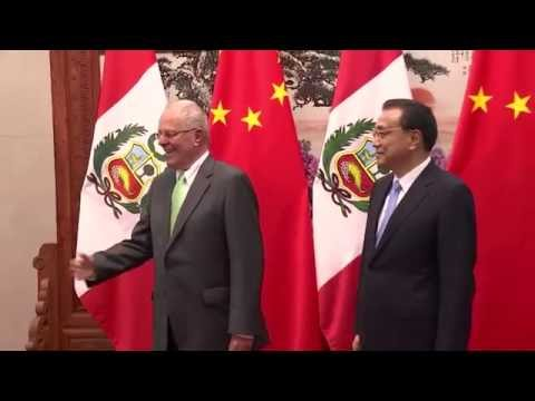 Encuentro con el Primer Ministro chino, Li Keqiang, se desarrolló en el Gran Palacio del Pueblo