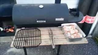 Charbroil Offset Smoker Bacon Wrapped Walleye