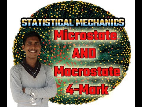 Microstate and Macrostate(Unit-1)