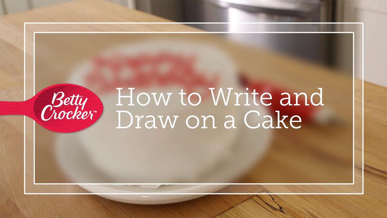 How To Write And Draw On A Cake