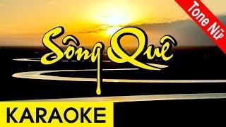 Sông Quê - Karaoke Beat | Tone Nữ