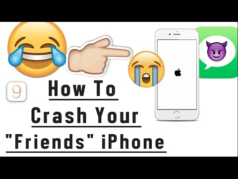how to crash iphone prank