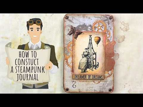 How To Construct A Steampunk Journal - Part 1/Digital Collage Club Design Team Project