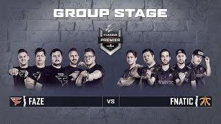 ELEAGUE CS:GO Premier 2018 - Faze vs Fnatic - Group Stage