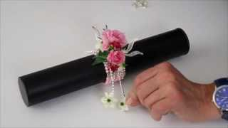 Repeat youtube video Create a Wrist Corsage using our Simple Elegance Bracelet in pink