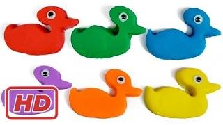 Lernen Farben Play Doh Enten Smileys | Kinder Farben Lernvideos für Kinder Babys
