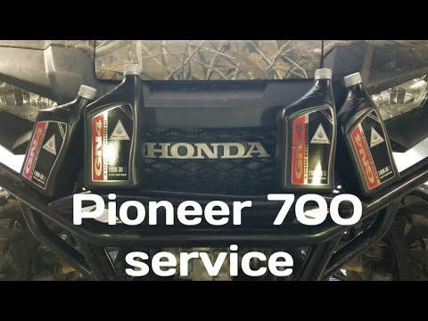 Honda pioneer 700 oil change.