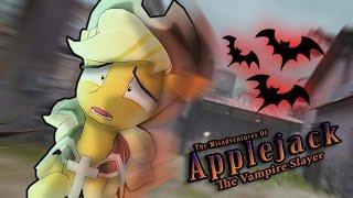 Repeat youtube video The Misadventures of Applejack the Vampire Slayer [Animation]