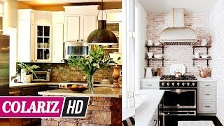 💗 IDEAS FOR HOME 💗 50+ Amazing Small Rustic Kitchen With Classic Furniture & Decoration - COLARIZ