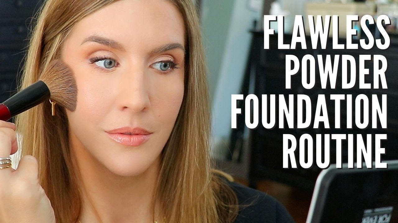 How to Apply POWDER FOUNDATION Without Looking Cakey ...