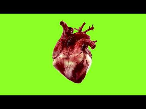 Beating Heart Green Screen