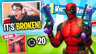 I ONLY Used Deadpool's *NEW* MYTHIC PISTOL in Fortnite... (i went OFF)
