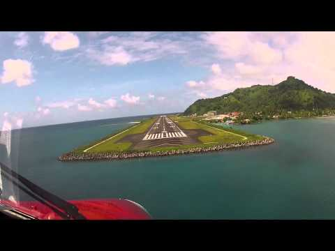 Landing at Chuuk International Airport _HD