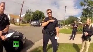 Man confronts (cops) after they shoot his dog, breaks in his property  for no reason  7/1/14