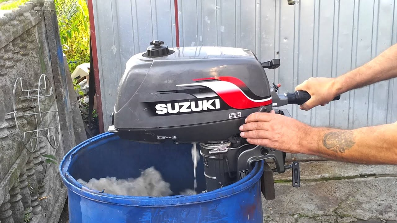 Suzuki 4 hp outboard motor 1998r 2 stroke dwusuw youtube Two stroke outboard motors