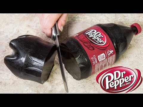 Giant Dr Pepper Gummy Bottle (2 Liter Gummy Cola Bottle) from Cupcakes and Cardio