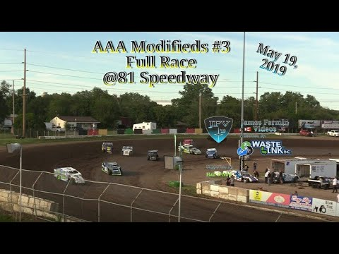 (AAA) Modifieds #30, Full Race, 81 Speedway, 05/19/19