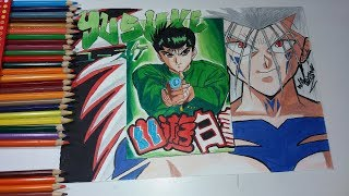 Speed drawing yusuke urameshi(Yu Yu Yakusho)(Challeng)