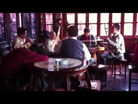 Chinese Traditional Band in the Huxingting Tea House, Yu Gardens, Old Town, Shanghai