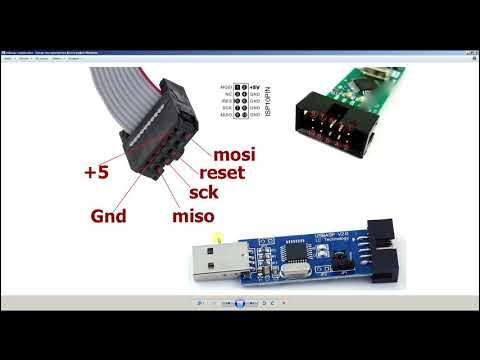 Как прошивать микроконтроллеры AVR программатором USBASP