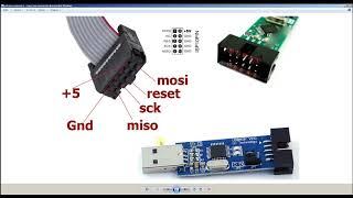 прошивка микроконтроллера atmega программатором USBasp