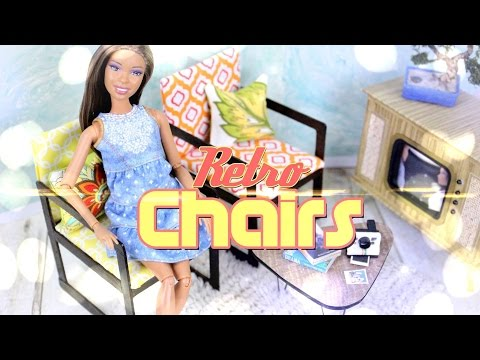 DIY - How to Make:  Doll Retro Chairs - BACK TO SCHOOL - Handmade - Crafts - 4K